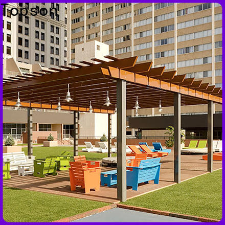 Topson fixed steel pipe pergola Suppliers for park