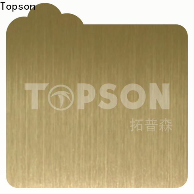 Topson durable stainless steel sheets for sale manufacturers for floor