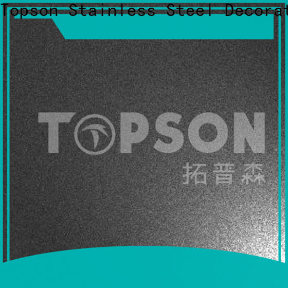 Topson finish brushed stainless sheet manufacturers for furniture