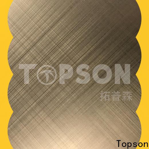 Topson antifingerprint decorative stainless steel sheet factory for handrail