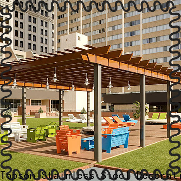 Topson Best white aluminum attached pergola company for park