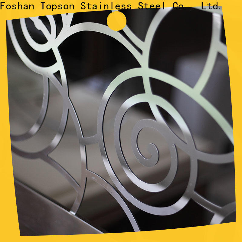 Topson popular stainless steel handrail price per foot for business for apartment