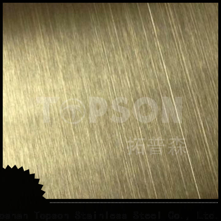 Topson antique decorative stainless steel sheet metal factory for interior wall decoration