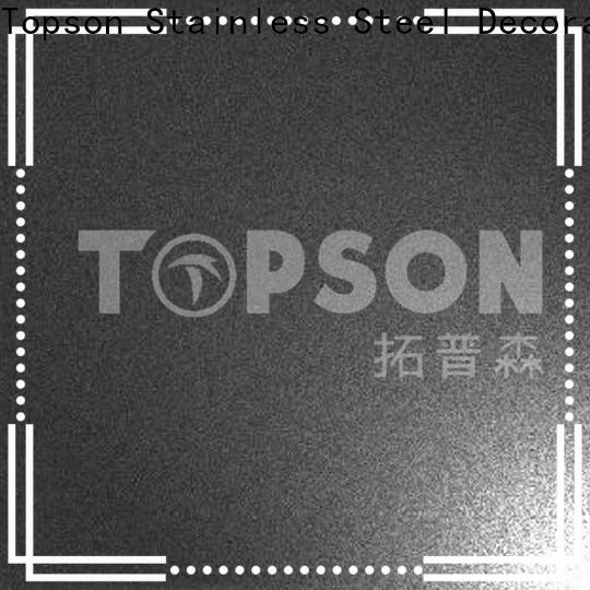 Topson embossed stainless sheets for sale company for elevator for escalator decoration