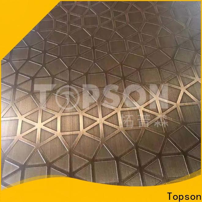 Topson etching mirror finish stainless steel Suppliers for furniture