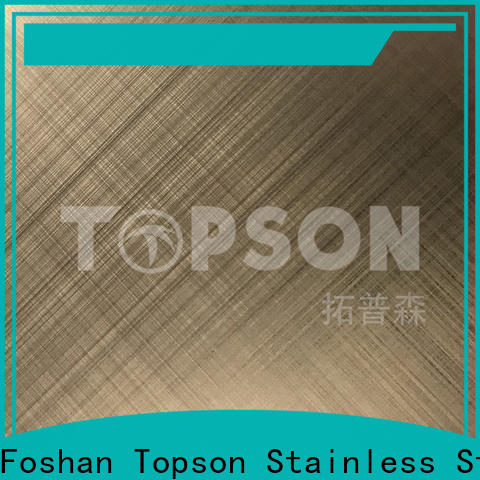 Top brushed stainless sheet color for partition screens