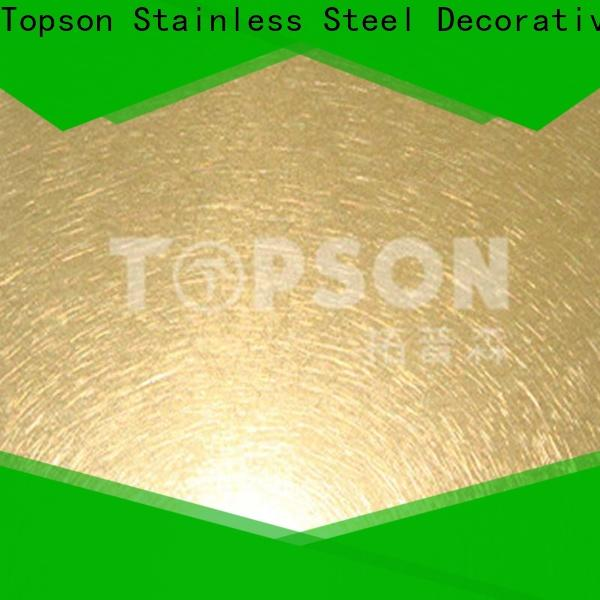 Topson New stainless steel sheets manufacturers company for vanity cabinet decoration