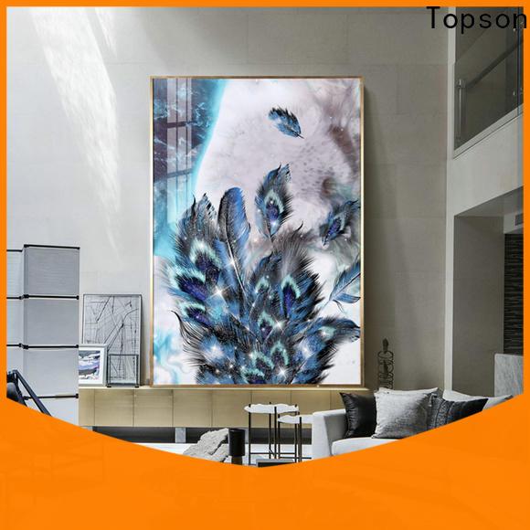 Topson parition modern glass handrail for TV wall