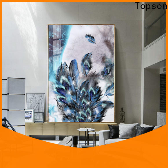 Topson parition modern glass handrail for TV wall