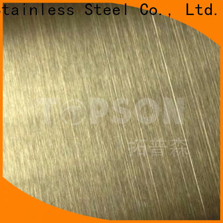 Topson sheet stainless steel sheet metal finishes Suppliers for elevator for escalator decoration