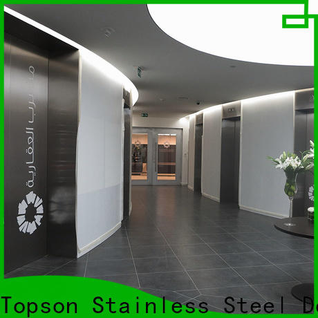 Topson Latest prehung steel double door Suppliers for outdoor wall cladding