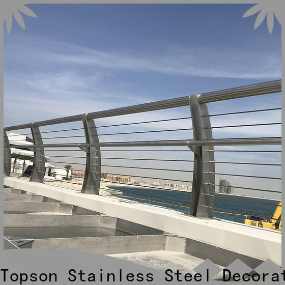 Topson railings steel and glass stair railing Supply for hotel