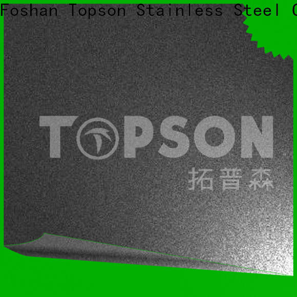 Topson brushed stainless steel metal sheet prices company for elevator for escalator decoration