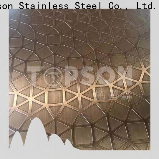 Topson stainless stainless steel embossed plate manufacturers for partition screens
