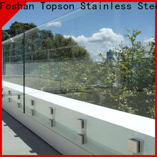 stable exterior glass handrail parition Suppliers for toilet