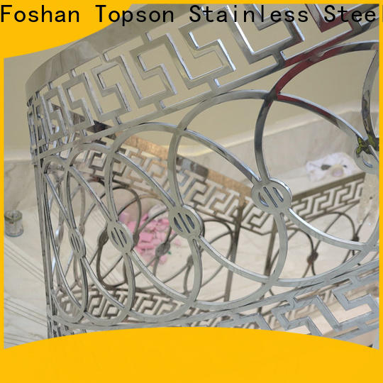 Topson curved stainless steel pipe railing manufacturers for room