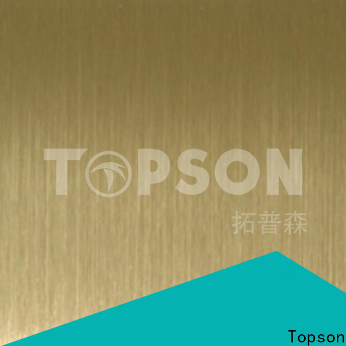Topson durable polished stainless steel sheet metal Suppliers for furniture