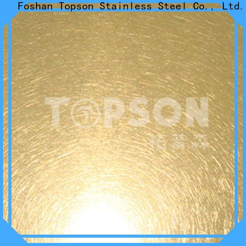 Topson stable embossed stainless sheet for vanity cabinet decoration