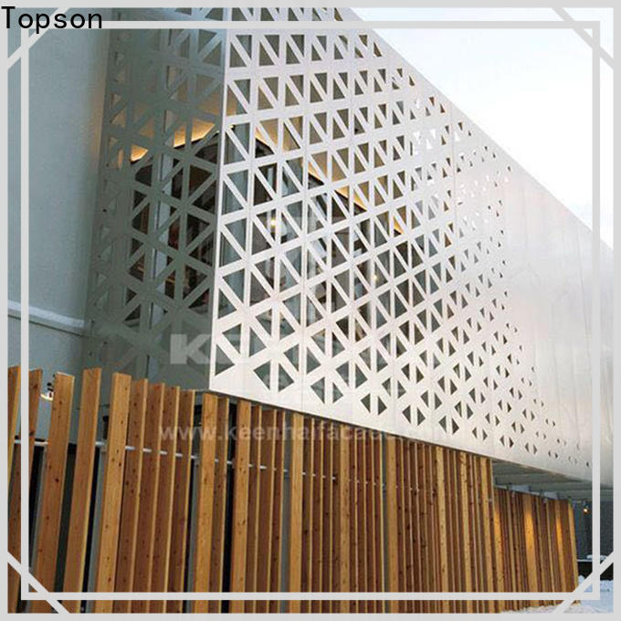 reliable decorative outdoor metal screens panels export for building faced