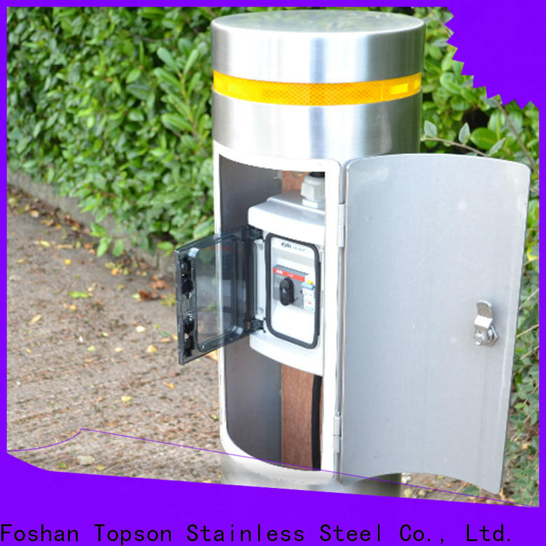 Topson steel decorative steel bollards Supply for building