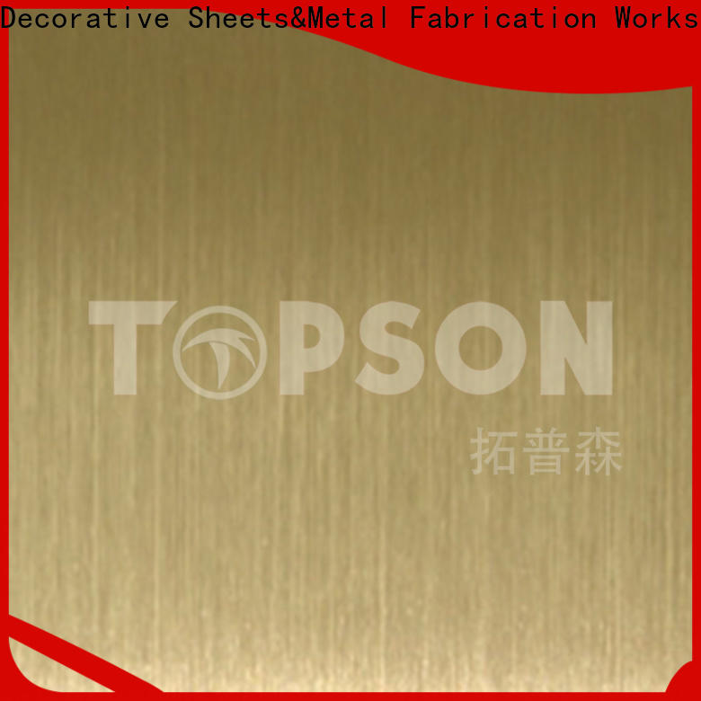 Topson decorative embossed stainless steel sheet China for furniture