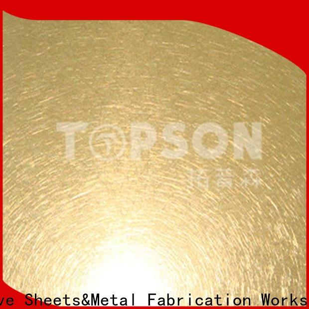 Topson stable stainless steel sheet suppliers manufacturers for kitchen