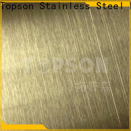 Topson New mirror stainless steel sheet for elevator for escalator decoration