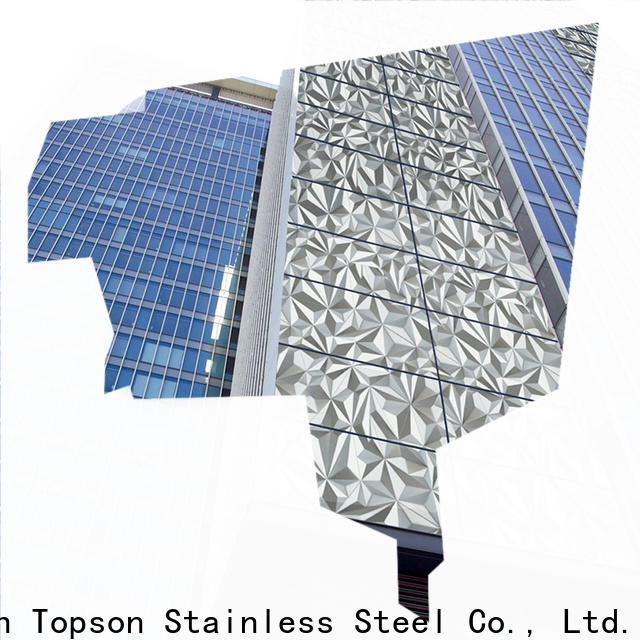 Topson steel cladding suppliers factory price for wall