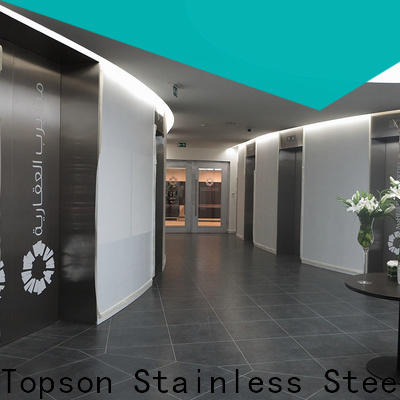 Topson solid steel front door Suppliers for outdoor wall cladding