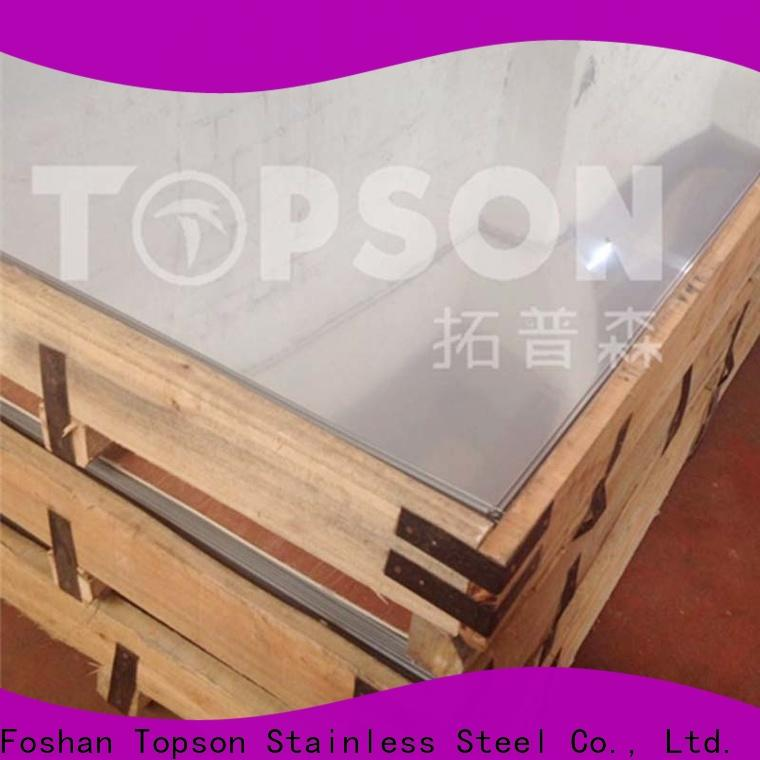 Topson mirror stainless steel sheet factory for handrail