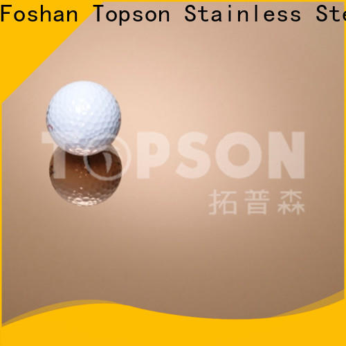 Topson hairline decorative stainless steel sheet China for interior wall decoration