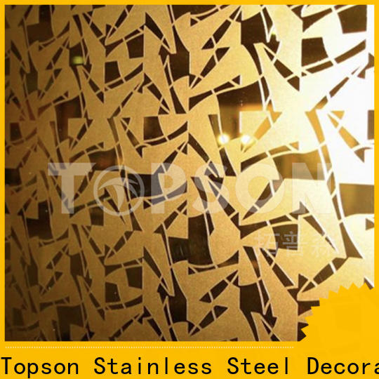 Topson etching black stainless steel sheet suppliers China for kitchen