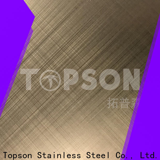 Topson cross decorative stainless steel sheet suppliers Suppliers for kitchen