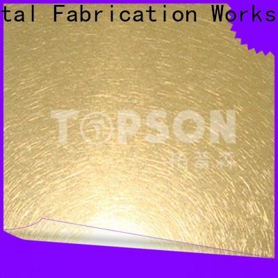 Topson gorgeous mirror stainless steel sheet for kitchen
