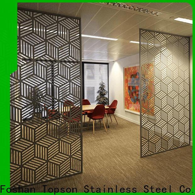 Custom outdoor decorative metal privacy screens aluminium Supply for building faced
