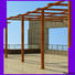 Topson high-density pergola aluminum frame factory for backyard