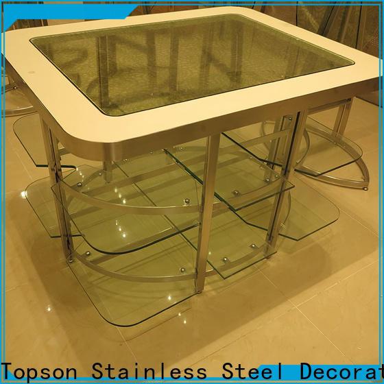 Topson New small black metal garden table company for interior