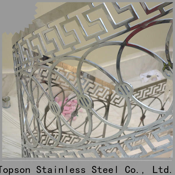 Topson curved steel cable guardrail manufacturers for hotel