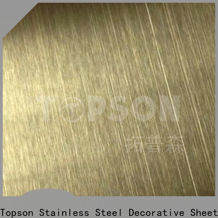widely used brushed stainless steel plate etching for vanity cabinet decoration