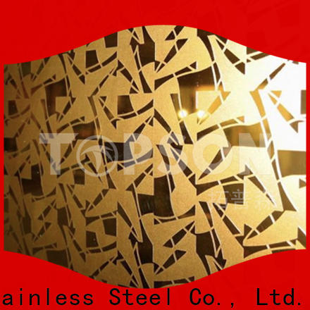 Topson brushed stainless steel sheet metal suppliers China for interior wall decoration