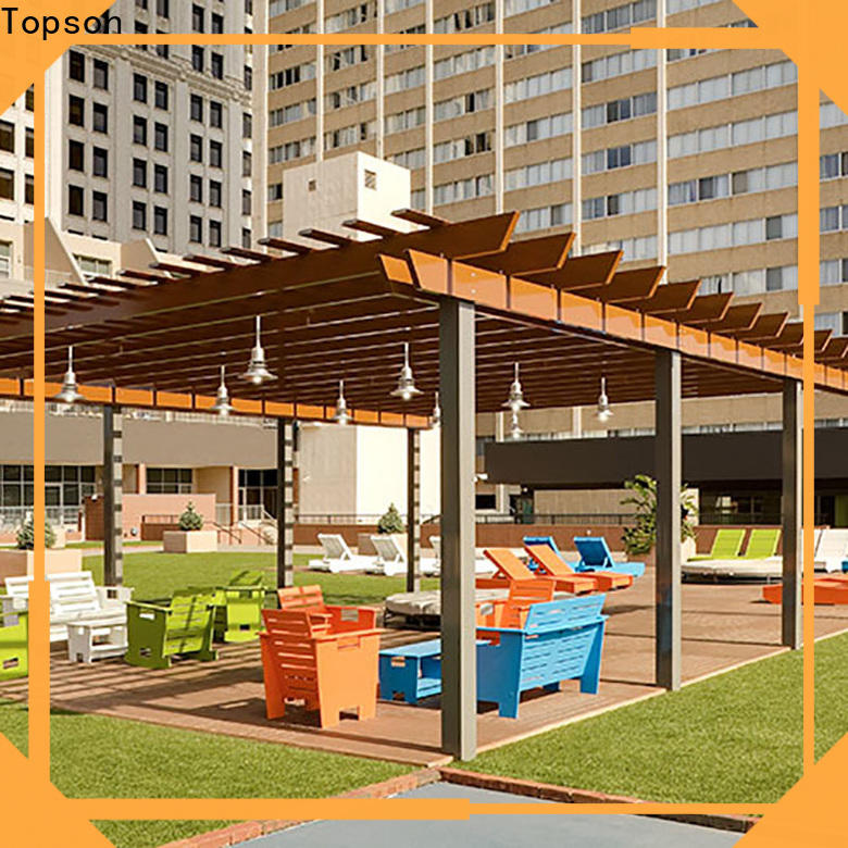 Topson widely used steel frame pergola kits manufacturers for resort