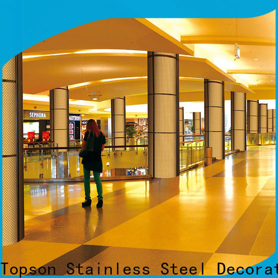 Topson reliable stainless steel cladding cost factory for lift