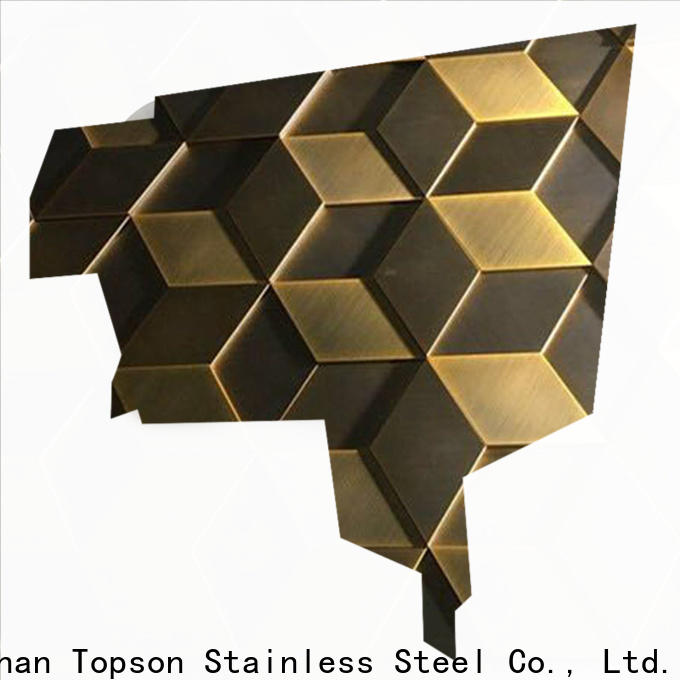 Topson Latest stainless steel cladding suppliers company for wall