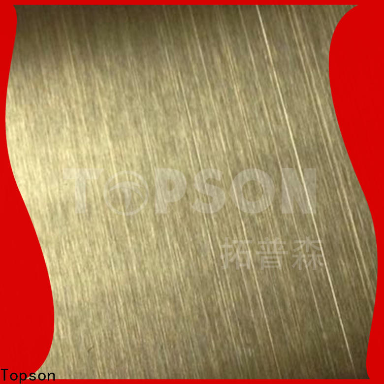 Topson good-looking brushed stainless steel sheet for vanity cabinet decoration