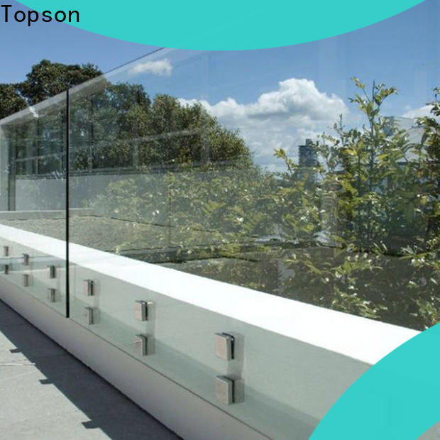 Topson Best glass deck railing Supply for hotel