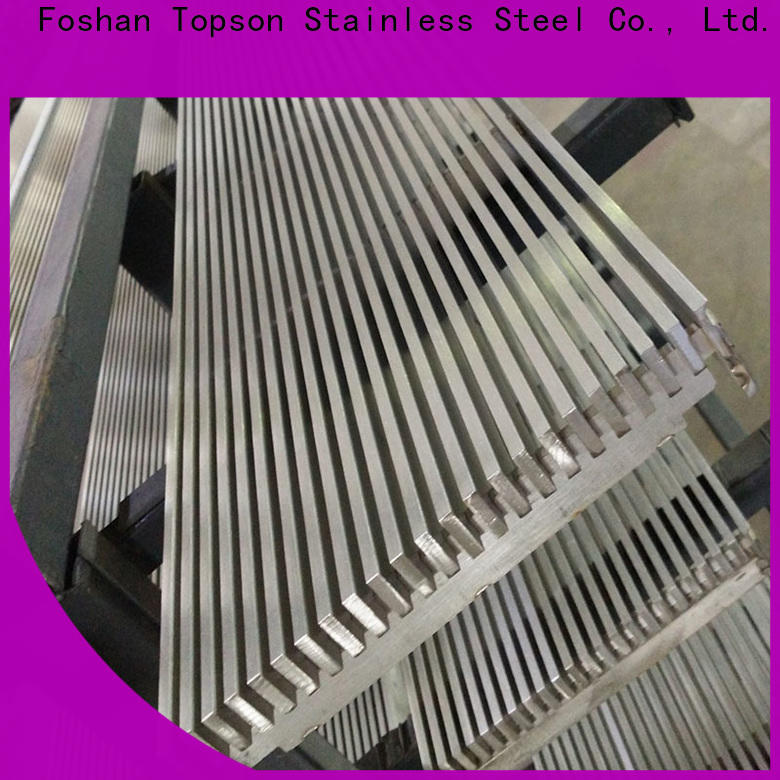 Topson grating aluminium diamond mesh sheet for hotel