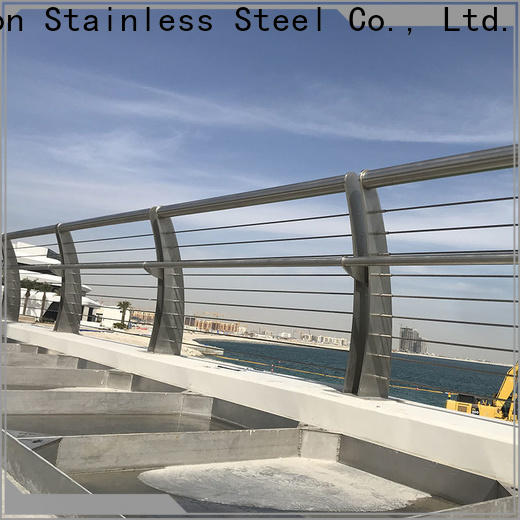 Custom stainless steel wire railing components handrail factory for mall