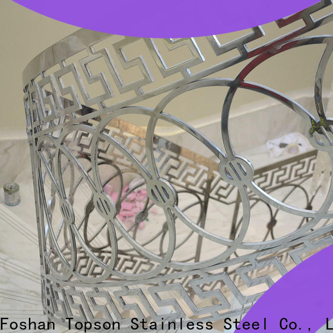 Custom stainless deck cable handrail company for hotel