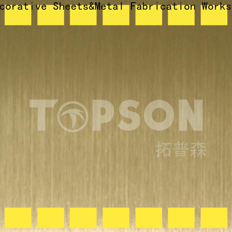 Topson hairline mirror stainless steel sheet manufacturers for interior wall decoration