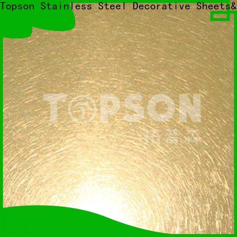 Topson sheetdecorative brushed stainless steel sheet Suppliers for furniture
